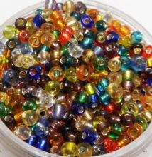 Seed beads - mixed. 1-2mm.  Approx 1000